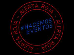 #AlertaRoja | #HacemosEventos | Logo