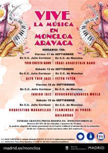 Vive la Música en Moncloa-Aravaca | Septiembre 2020 | Moncloa-Aravaca | Madrid | Cartel