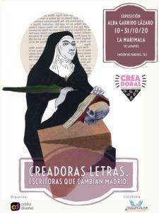 Creadoras Letras. Escritoras que cambian el mundo | Alba Garrido Lázaro | Órbita Diversa | La Marimala de Lavapiés | 10-31/10/2020 | Cartel