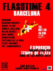 El destello del tiempo. La eternidad del instante | 23/10/2020 | Amic de les noves arts | Can Batllo | Barcelona | Cartel