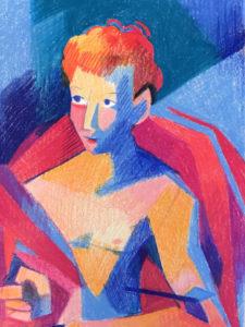 Ganadores de VersionaThyssen 7ª edición   Museo Nacional Thyssen-Bornemisza   Madrid   'Sebastián en color' de Esther García