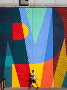 Intervención artística de Boa Mistura en el Polideportivo Municipal Alhóndiga de Getafe en el marco del CI Urban Fest 2020 | Foto Cultura Inquieta