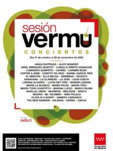 Sesión Vermú | 90 conciertos en 14 municipios madrileños | 31/10-29/11/2020 | Comunidad de Madrid | Cartel