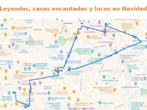 3 rutas navideñas del Ayuntamiento de Madrid   Leyendas, casas encantadas y luces de Navidad   Plano