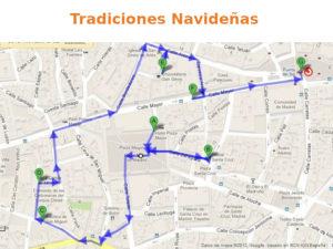 3 rutas navideñas del Ayuntamiento de Madrid   Tradiciones Navideñas   Plano