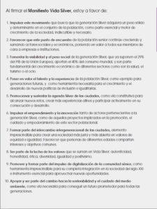 Vida Silver | Innovadora iniciativa de IFEMA - Feria de Madrid | Manifiesto