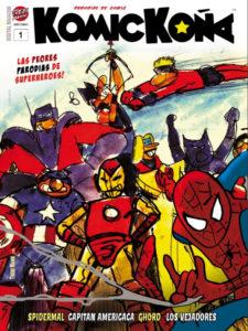 KOMICKOÑA #1 | Magazine de parodias de superhéroes | Trebi Mann | Enero 2021 | Portada