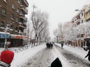 Recomendaciones para edificios y viviendas tras la nevada en Madrid | Avenida de la Albufera | 09/01/2021 | Puente de Vallecas
