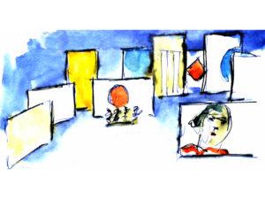 Carlos Saura y la Danza | 30/03-6/06/2021 | Fernán Gómez. Centro Cultural de la Villa | Madrid | © Carlos Saura, VEGAP, 2021 | Decorados 'Iberia' (2005)
