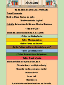 Día del Libro 2021 | Jornada lúdica infantil | 25/04/2021 | Distrito Salamanca | Madrid | Programa