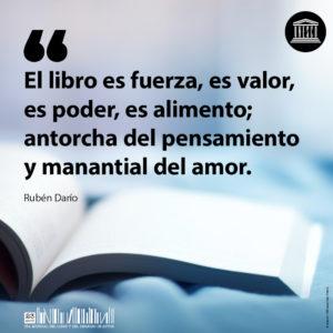 Día Internacional del Libro   23 de abril   El libro es fuerza   Rubén Darío