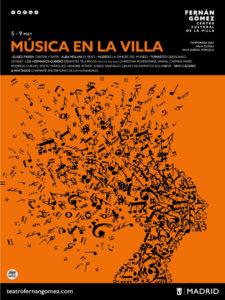 Música en la Villa | 5-9/05/2021 | Fernán Gómez. Centro Cultural de la Villa | Madrid | Cartel