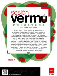 Sesión Vermú Primavera 2021 | Conciertos en 17 municipios madrileños | Mayo 2021 | Cartel