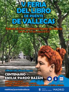5ª Feria del Libro de Puente de Vallecas   14-30/05/2021   Puente de Vallecas   Cartel
