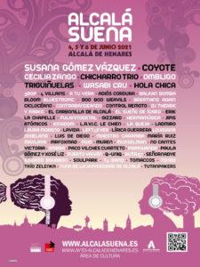 Alcalá Suena 2021   Alcalá de Henares   4, 5 y 6/06/2021   Cartel