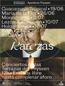#AperitivosThyssen | Momentos Alhambra | 'Rarezas' | Terrazas del Museo Nacional Thyssen-Bornemisza | 19/06-31/07/2021 | Centro | Madrid | Cartel