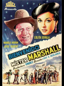 Cine de Verano 2021   Distrito Salamanca   2/07-3/09/2021   Parque Eva Duarte   Madrid   Cartel de Bienvenido Mister Marshall