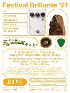 Festival Brillante | 24-26/09/2021 | Chapinería | Comunidad de Madrid | Cartel