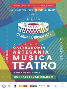 Fiesta Corral Cervantes 2021 | Madrid Río | 03/06-31/10/2021 | Arganzuela | Madrid | Cartel