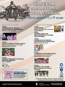 Fiestas de San Antonio de la Florida 2021   11-13/06/2021   Moncloa-Aravaca   Madrid   Cartel programación