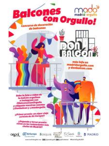 MADO 21 | Madrid Orgullo 2021 | Pride Madrid 2021 | 25/06-4/07/2021 | ¡Balcones con Orgullo!
