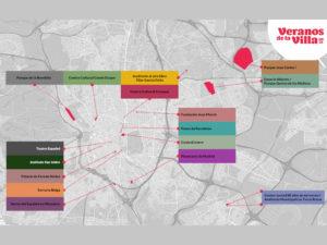 Veranos de la Villa 2021 | Ayuntamiento de Madrid | 06/07-29/08/2021 | Mapa de espacios