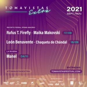 Conciertos de Tomavistas Extra   Septiembre - Noviembre - 2021   Cartel