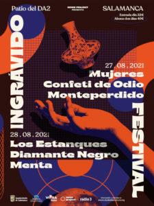 Festival Ingrávido 2021   Patio del DA2   Salamanca   27-28/07/2021   Cartel