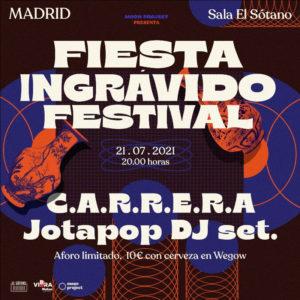Fiesta presentación Festival Ingrávido 2021   Sala El Sótano   Madrid   21/07/2021   Cartel
