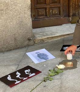 Homenaje a los deportados de Centro a campos de concentración | 'Stolperstein' a Ángel Hernández García