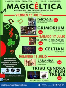 Magicéltica 2021 | 6ª Muestra Céltica Fantástica | 16-18/07/2021 | Puente de Vallecas | Cartel