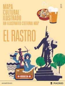 Mapa Cultural Ilustrado 'El Rastro' | Daniel Diosdado | Ayuntamiento de Madrid 2021 | Portada