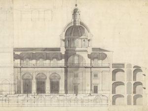 2021 - Año Sabatini. Arquitectura y poder en el Madrid ilustrado   Palacio Real   Boceto de Francesco Sabatini